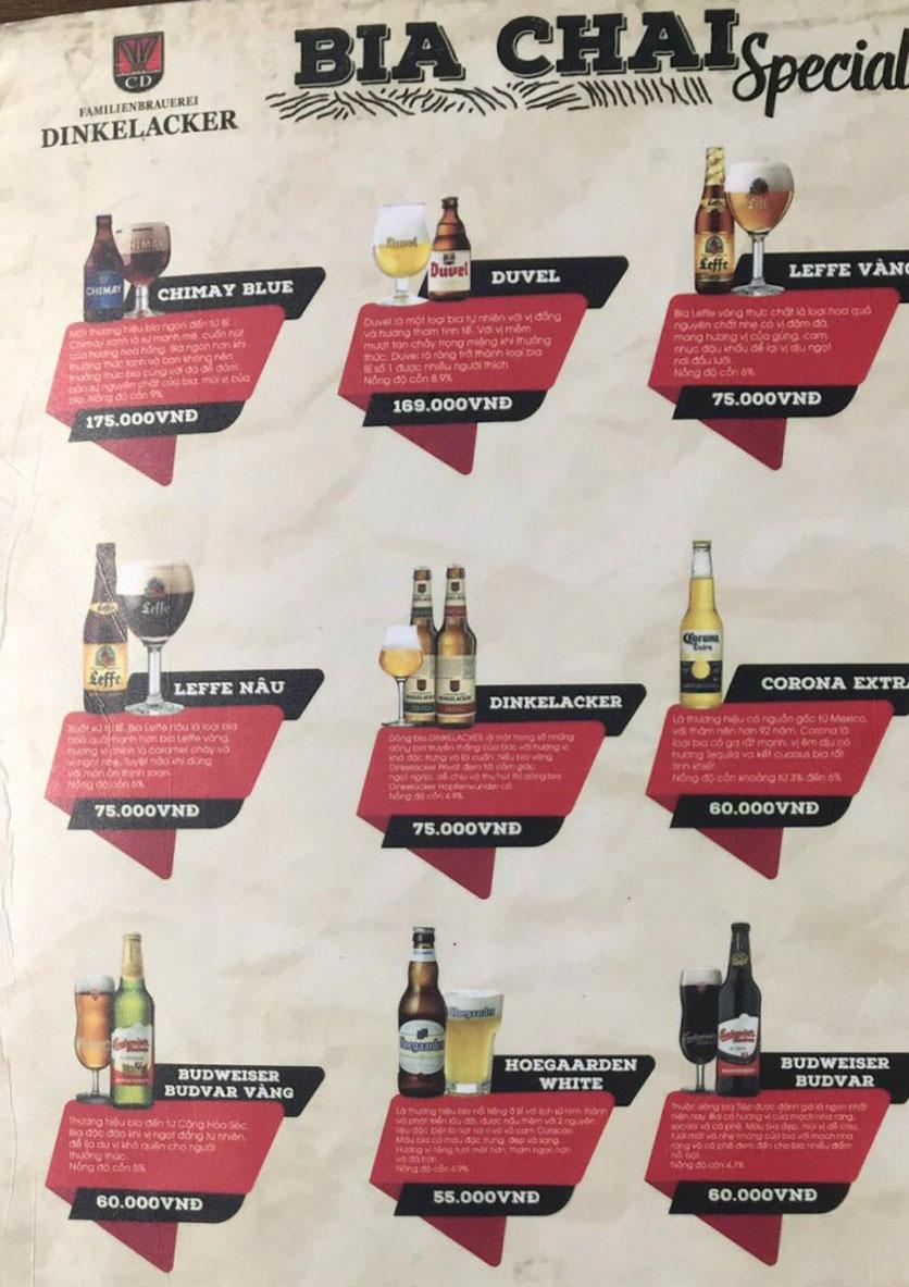 Menu  Zamba Beer & BBQ - Yên Lãng    2