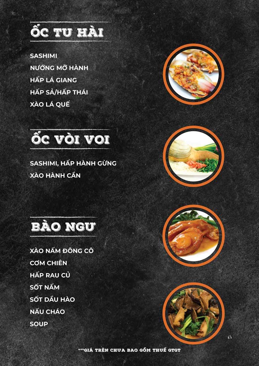 Menu ZooZoo - Phạm Văn Đồng 12