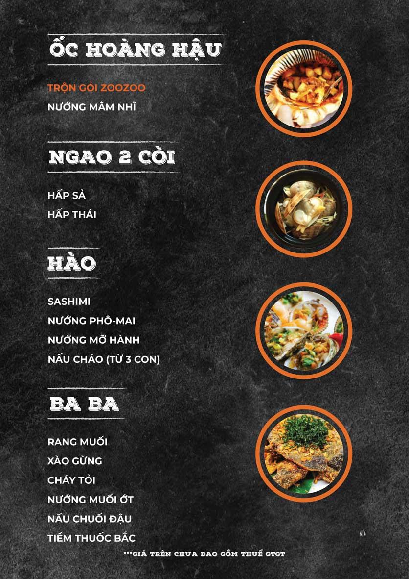 Menu ZooZoo - Phạm Văn Đồng 13