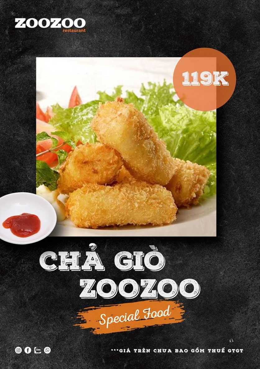 Menu ZooZoo - Phạm Văn Đồng 4