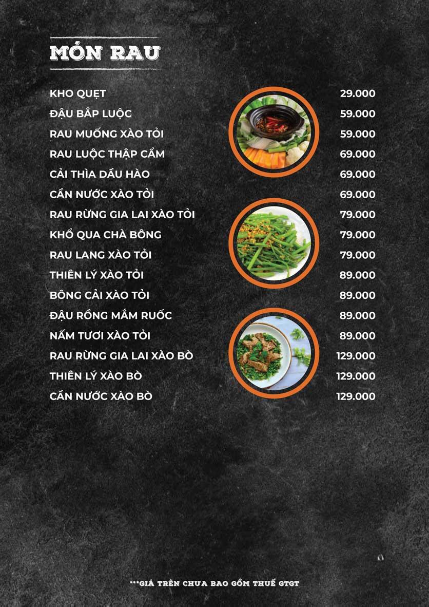 Menu ZooZoo - Phạm Văn Đồng 5