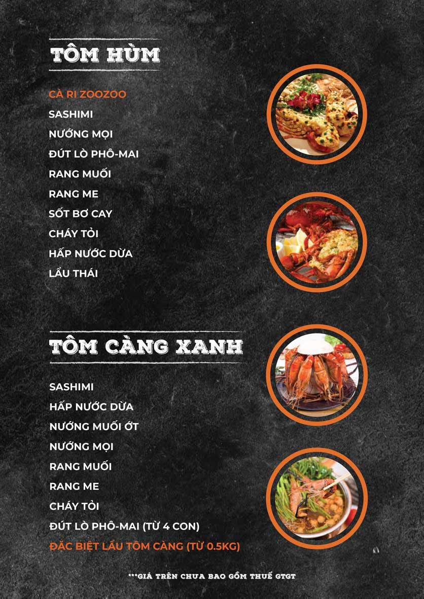 Menu ZooZoo - Phạm Văn Đồng 7