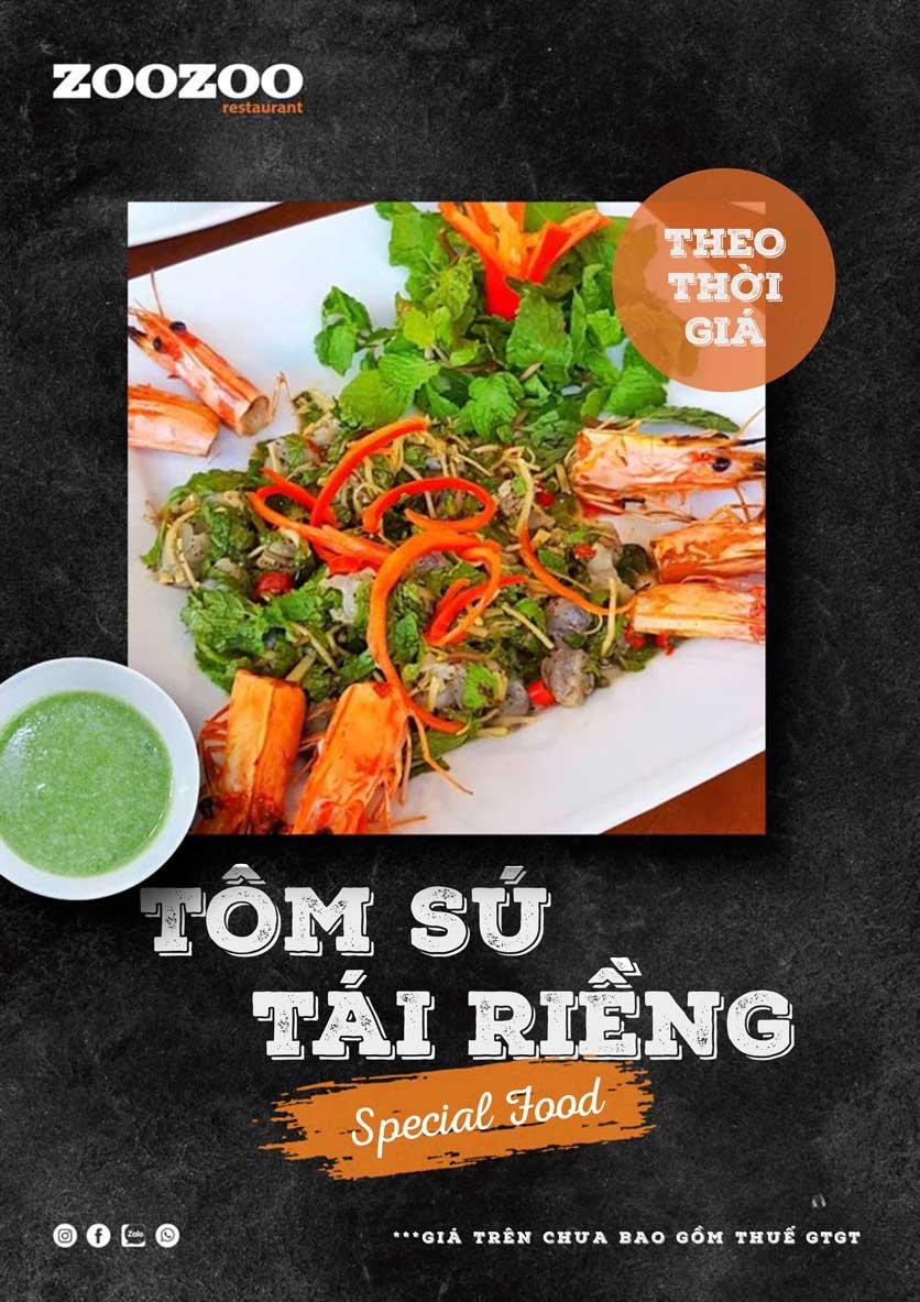 Menu ZooZoo - Phạm Văn Đồng 8