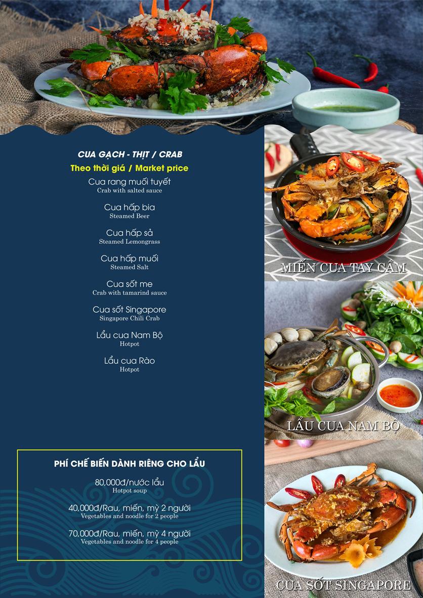 Menu Hải Sản Biển Cua - Nguyễn Khang 13