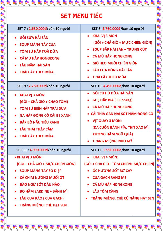 Menu Hải sản Hải Châu 3 - Nguyễn Thị Nhỏ 4