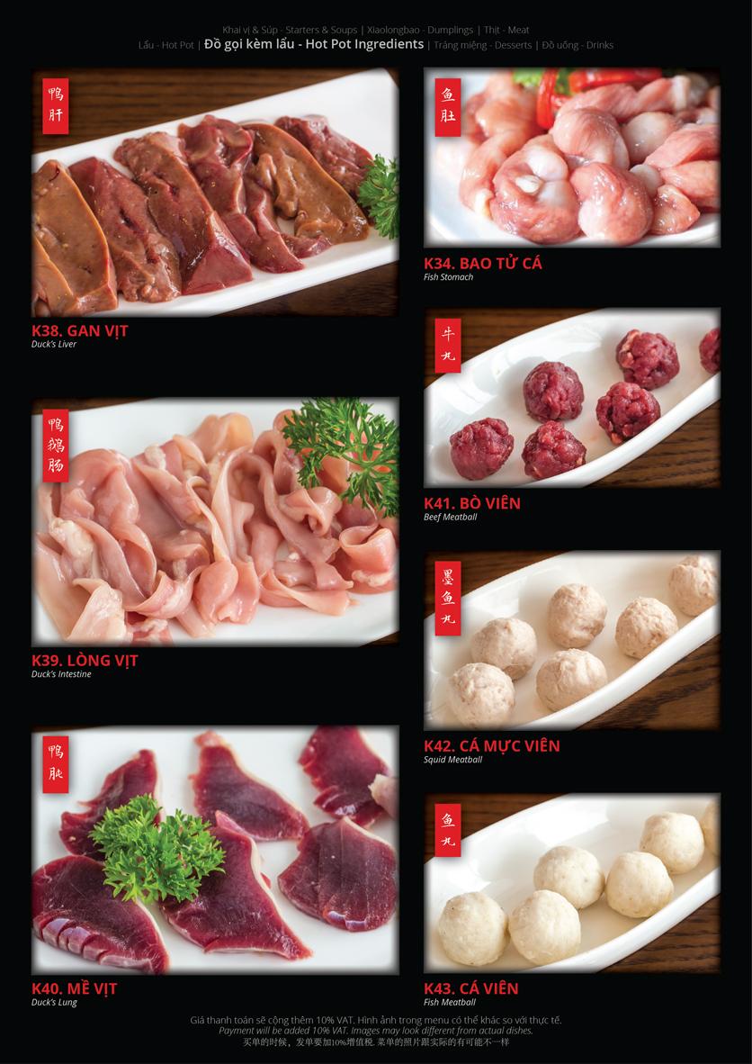 Menu Hoolong - Dumpling Bar - Lê Văn Lương   12