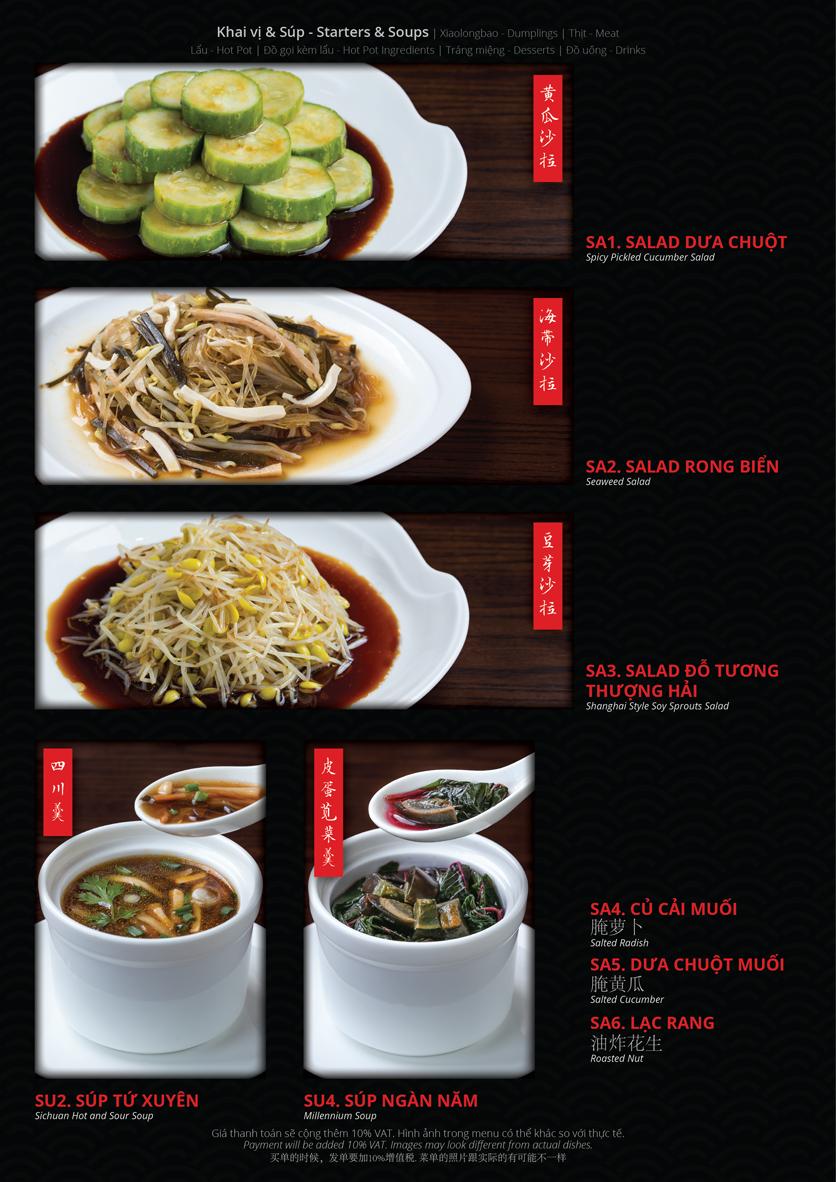 Menu Hoolong - Dumpling Bar - Lê Văn Lương   2