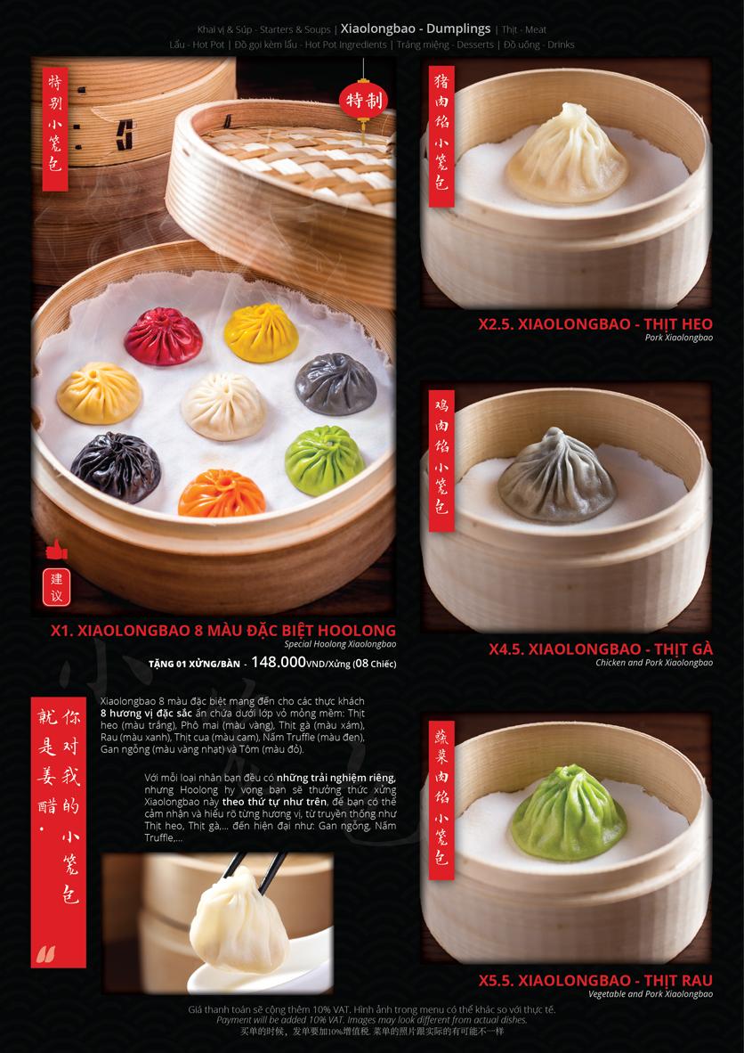 Menu Hoolong - Dumpling Bar - Lê Văn Lương   3