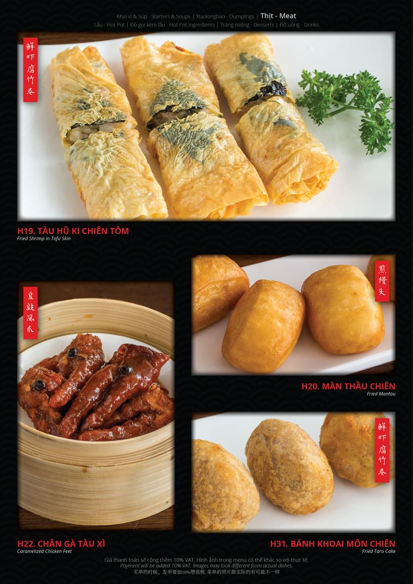 Menu Hoolong - Dumpling Bar - Lê Văn Lương   8