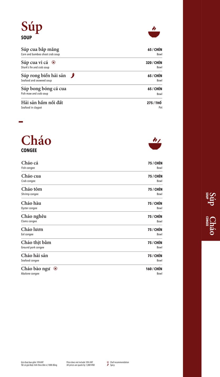 Menu Ngọc Sương Sài Gòn - Sương Nguyệt Ánh 13