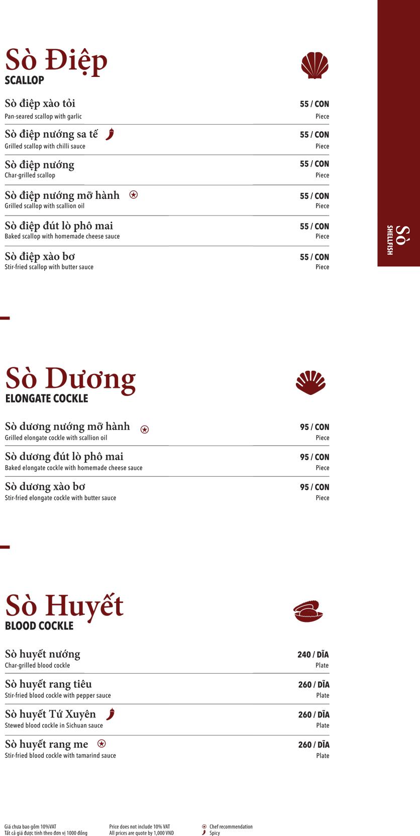 Menu Ngọc Sương Sài Gòn - Sương Nguyệt Ánh 2