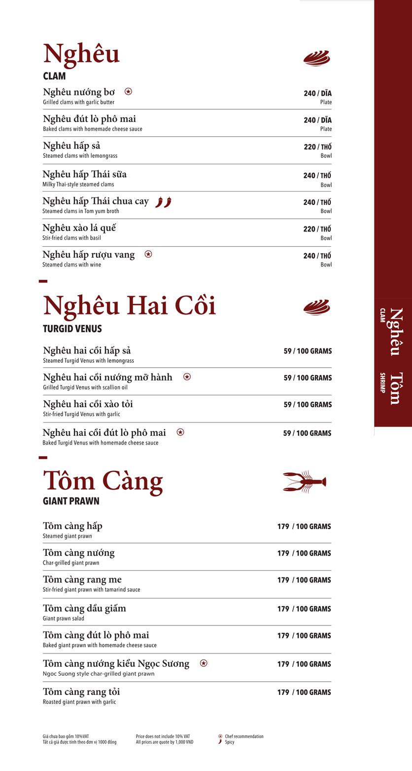 Menu Ngọc Sương Sài Gòn - Sương Nguyệt Ánh 4