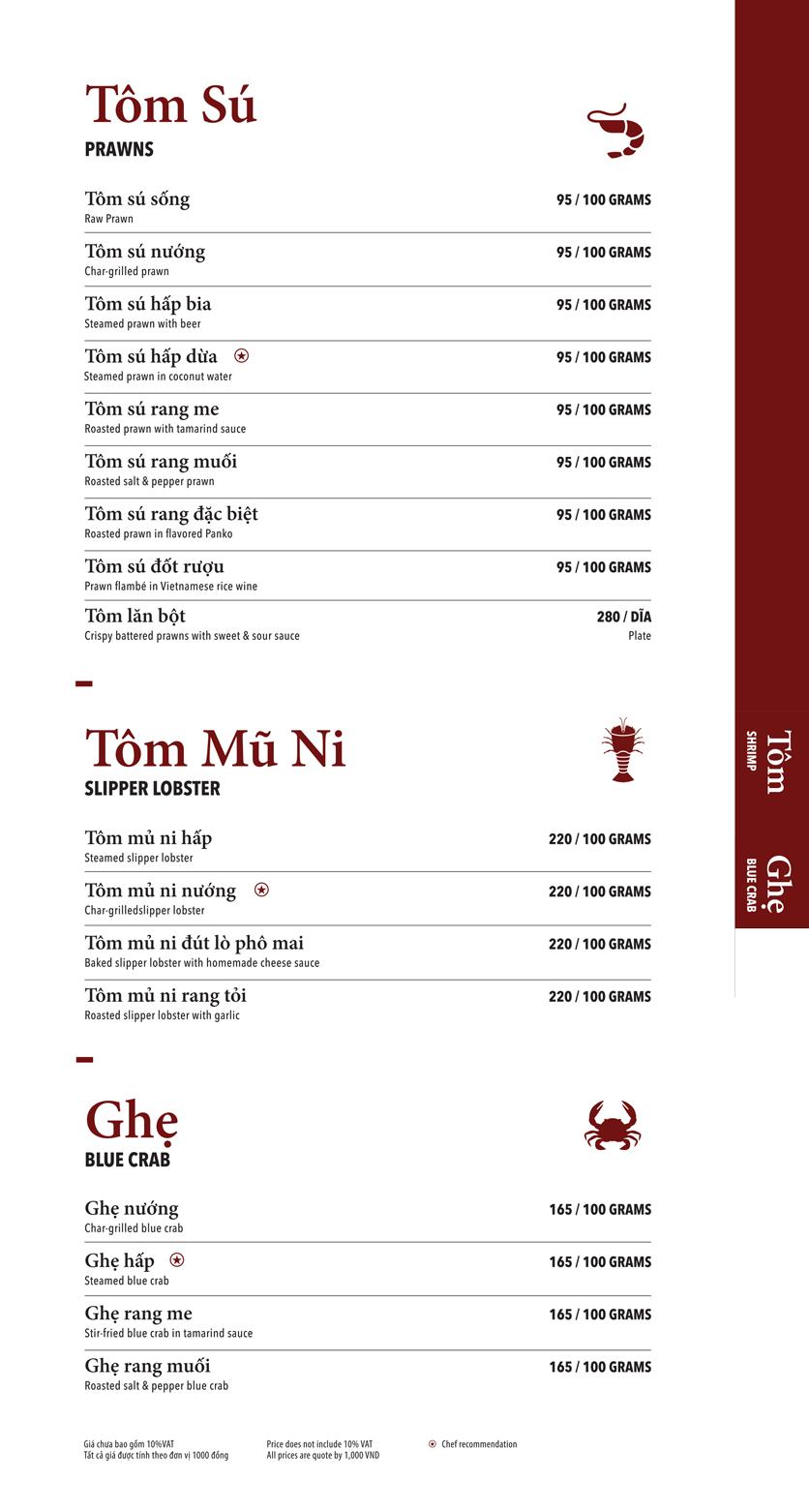Menu Ngọc Sương Sài Gòn - Sương Nguyệt Ánh 6