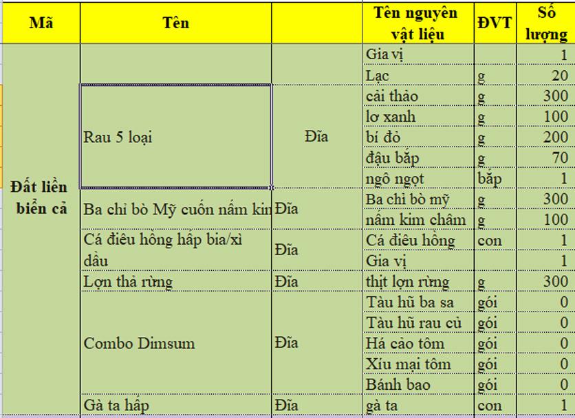 Menu iSteam - Nguyễn Thị Định 3