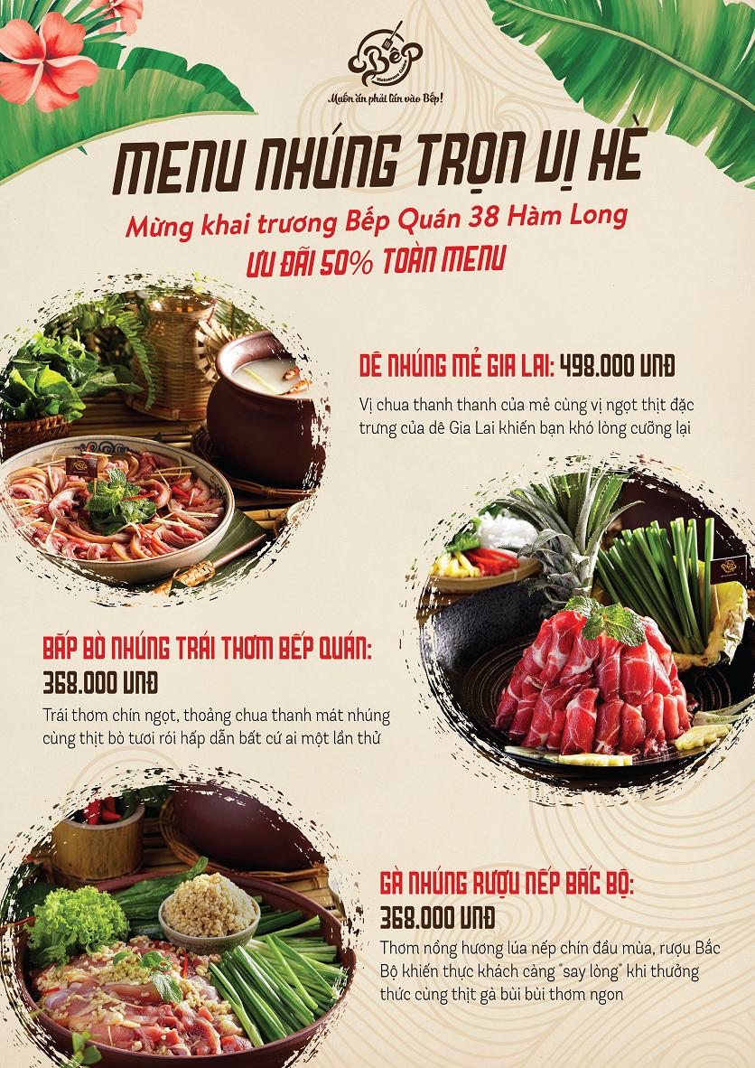 Menu Bếp Quán - Trung Hòa 2