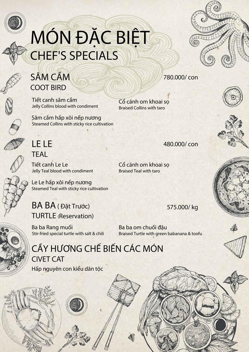 Menu 1915y Restaurant - Lê Văn Hưu 1