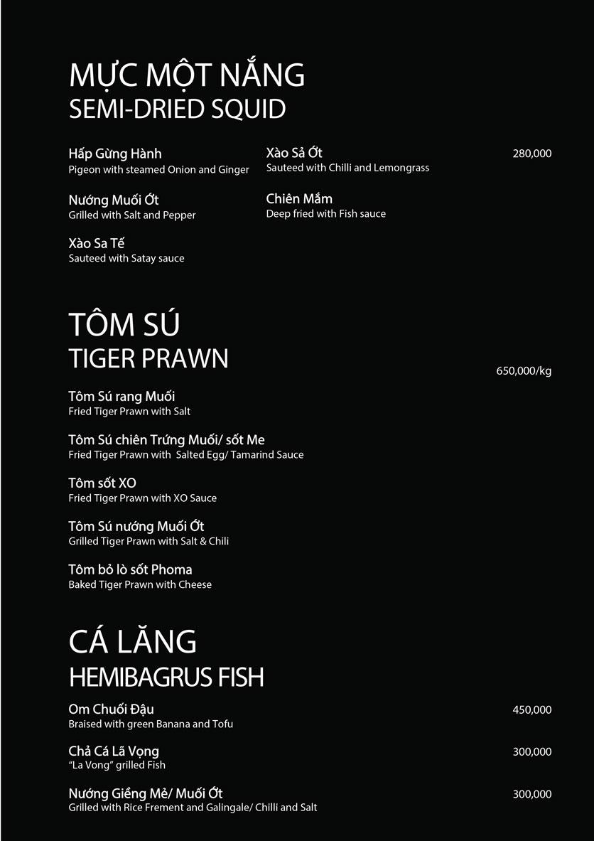 Menu 1915y Restaurant - Lê Văn Hưu 6