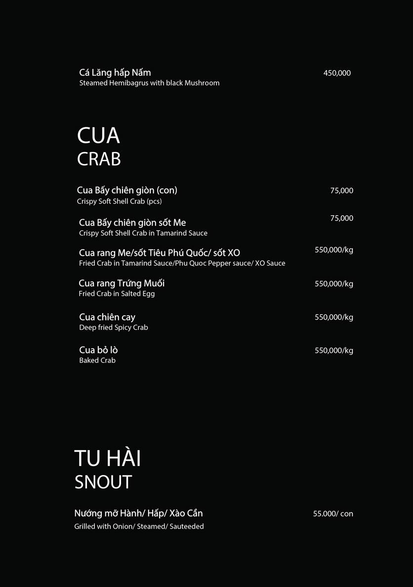Menu 1915y Restaurant - Lê Văn Hưu 7