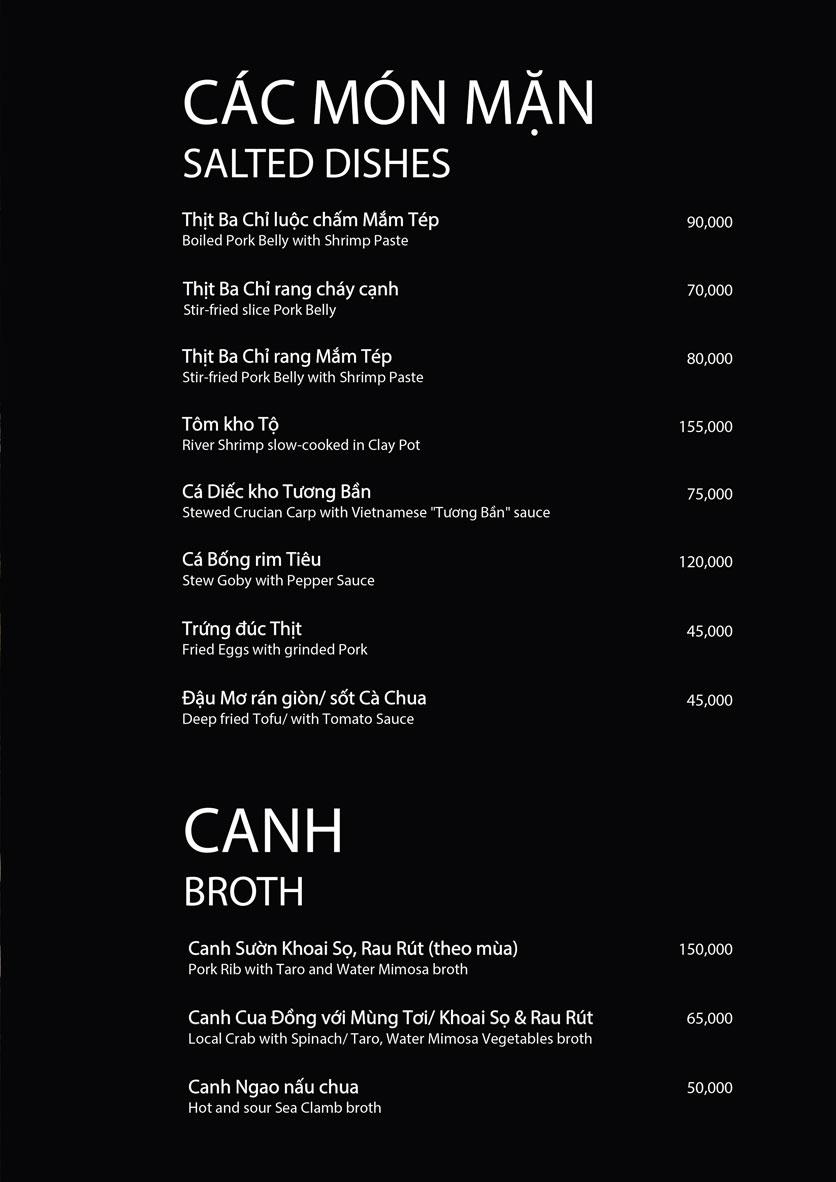 Menu 1915y Restaurant - Lê Văn Hưu 10