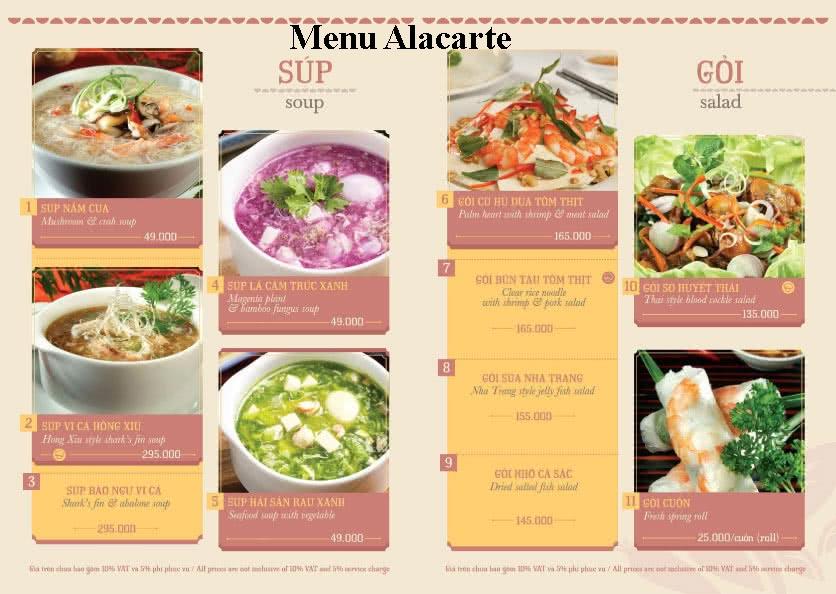 Menu Hoàng Yến Cuisine – Lê Duẩn  9