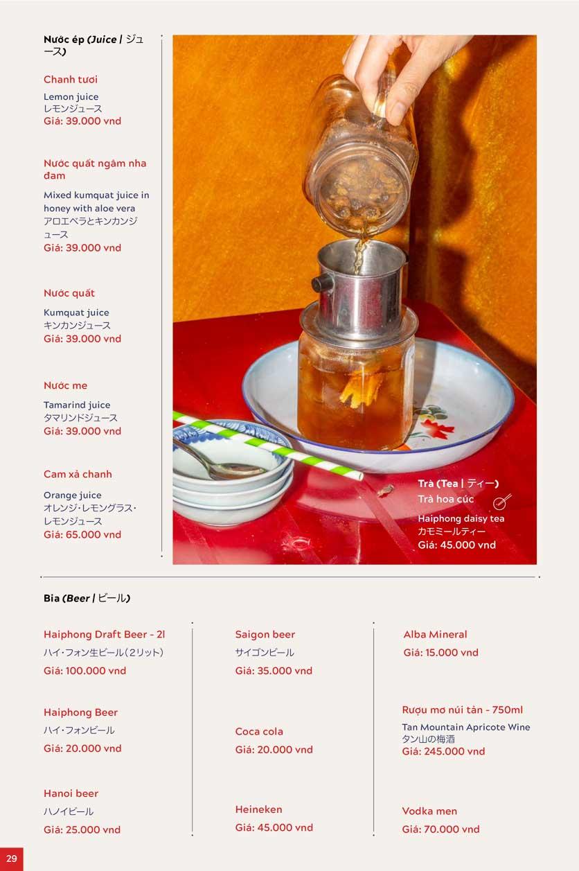 Menu An Biên Eatery – Triệu Việt Vương 20