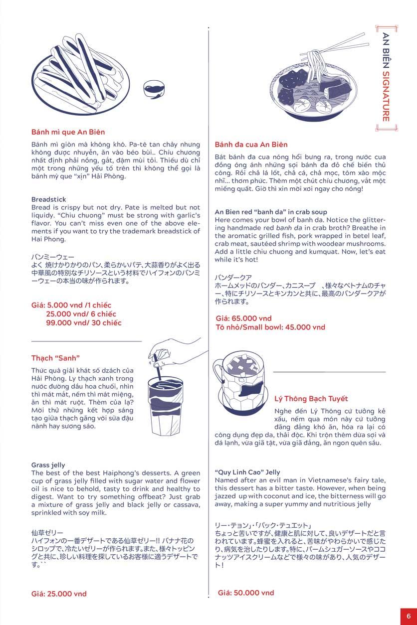 Menu An Biên Eatery – Triệu Việt Vương 3