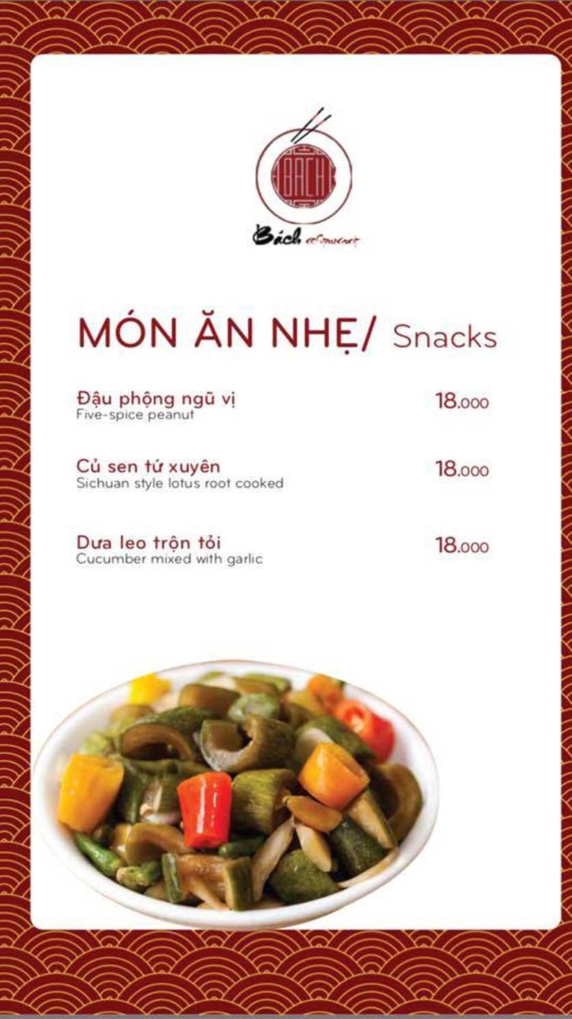 Menu Bách Restaurant – Phan Văn Trị 1