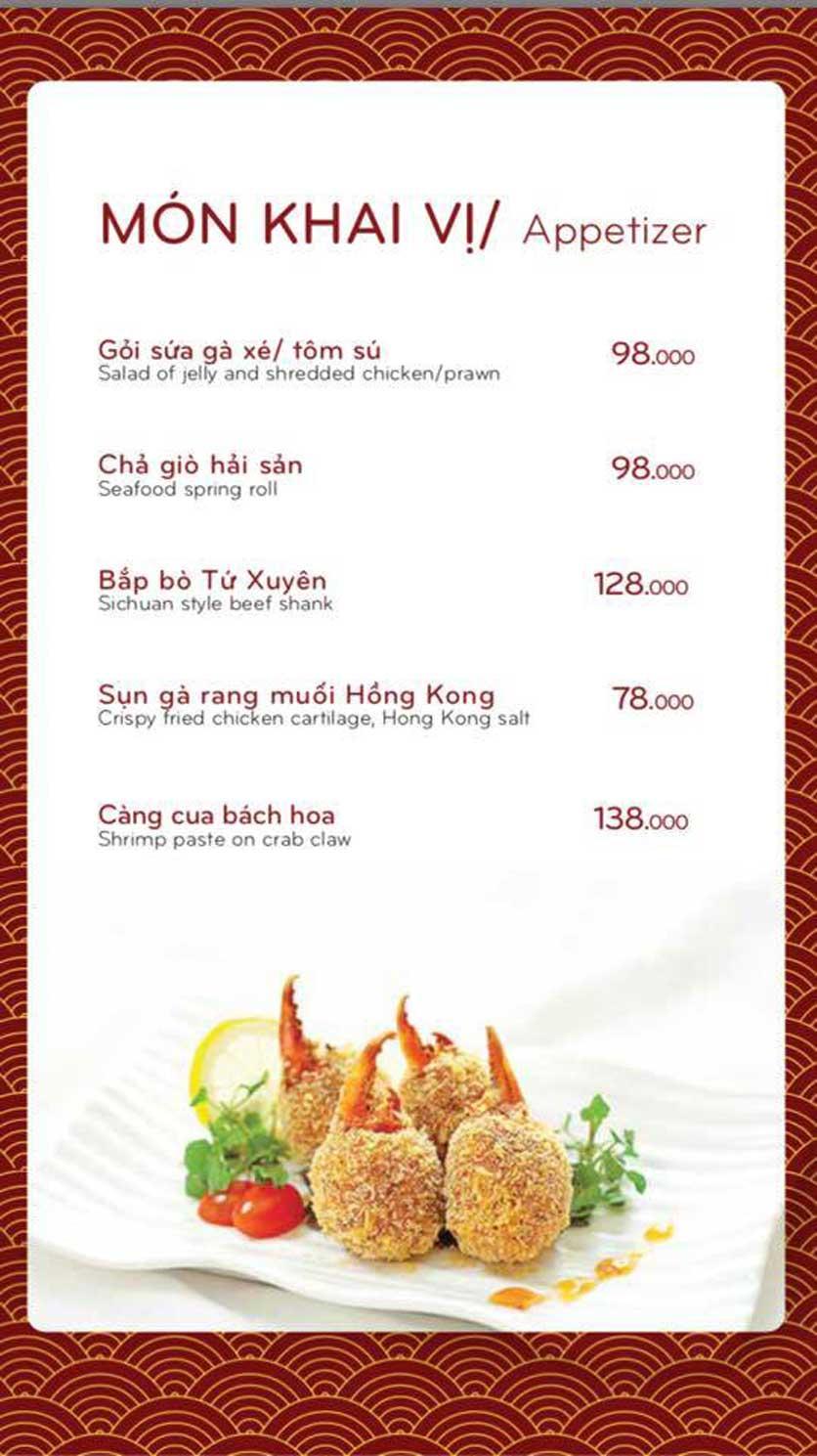 Menu Bách Restaurant – Phan Văn Trị 2