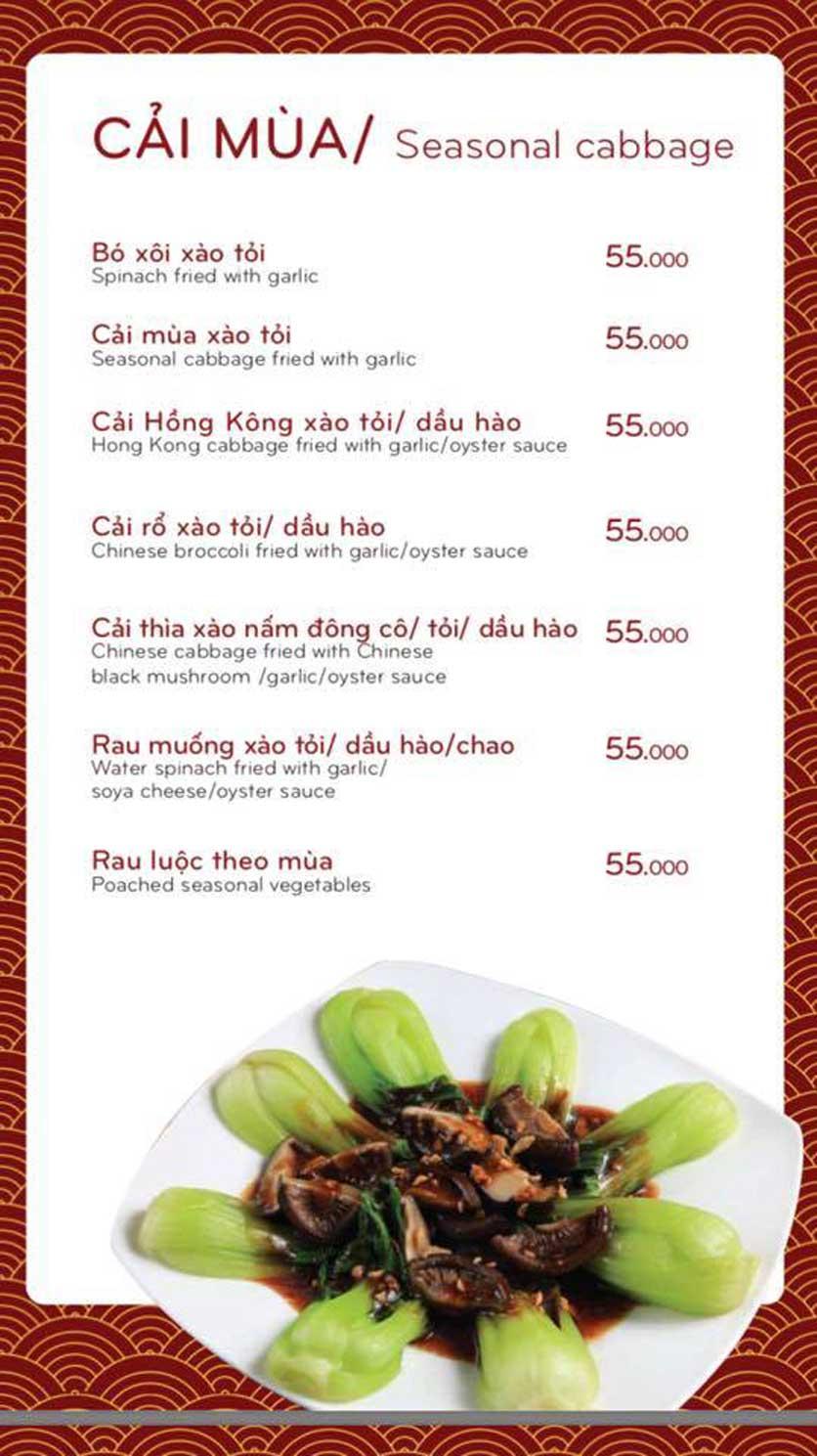Menu Bách Restaurant – Phan Văn Trị 3