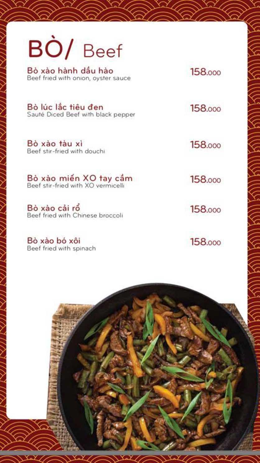 Menu Bách Restaurant – Phan Văn Trị 4