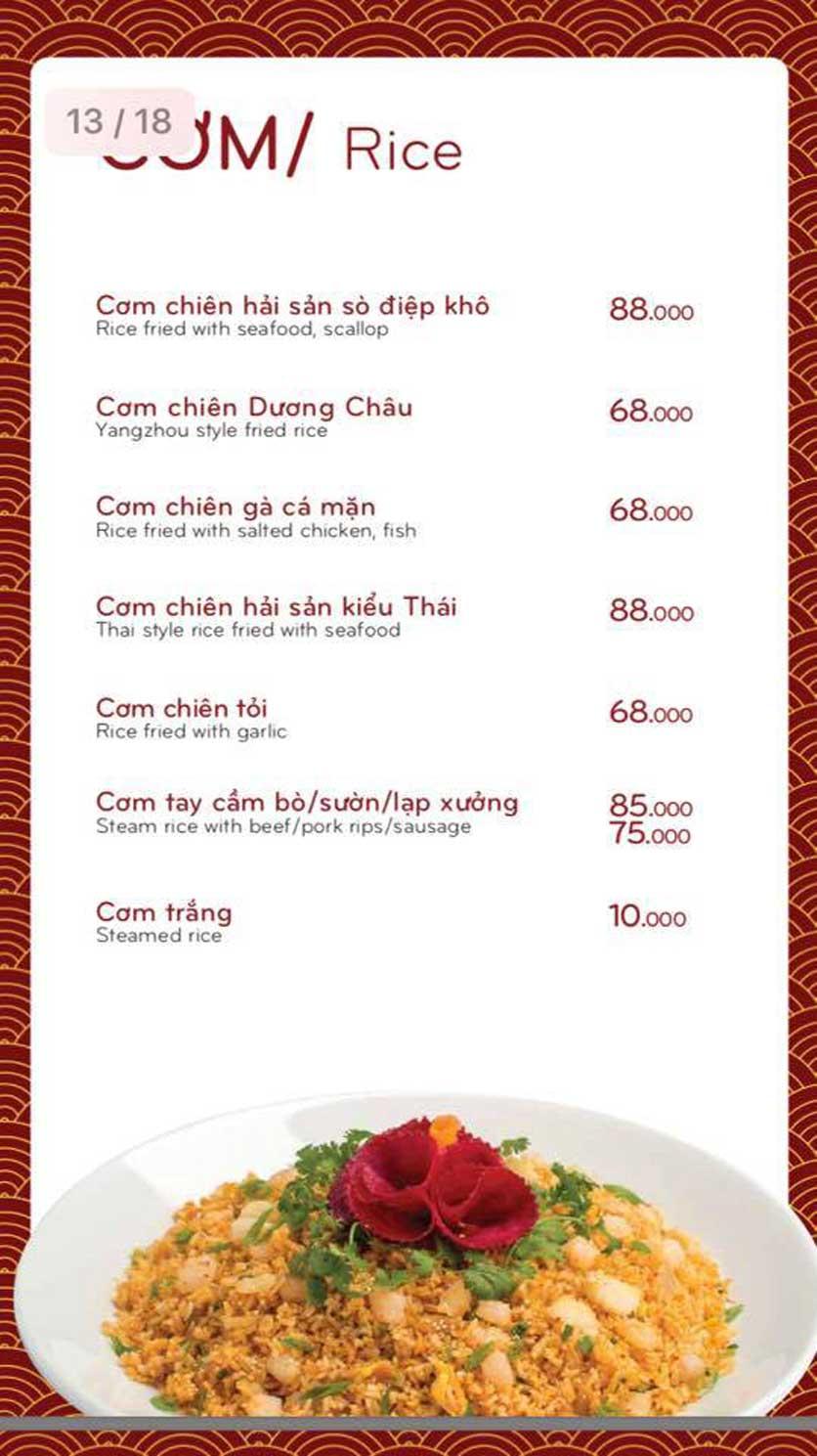 Menu Bách Restaurant – Phan Văn Trị 7