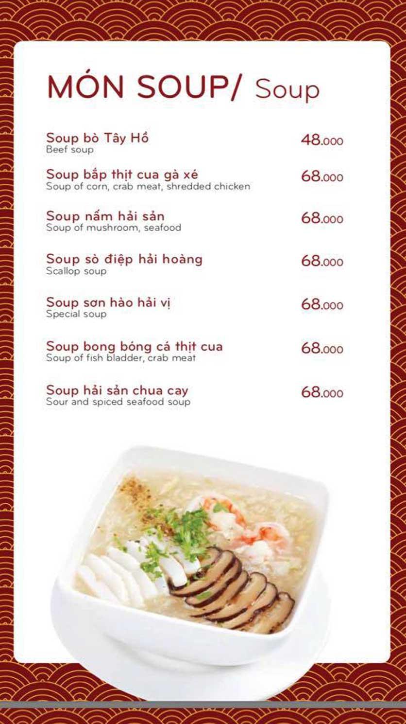 Menu Bách Restaurant – Phan Văn Trị 9