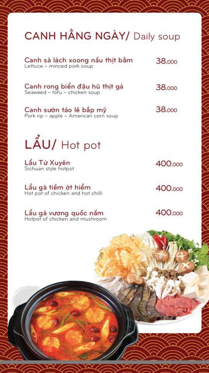 Menu Bách Restaurant – Phan Văn Trị 12