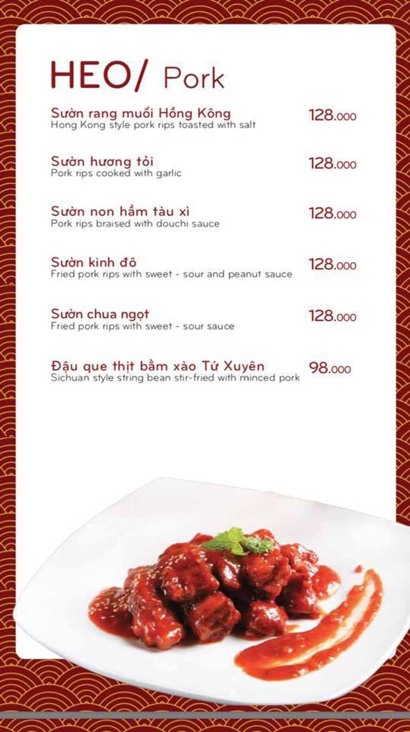 Menu Bách Restaurant – Phan Văn Trị 13