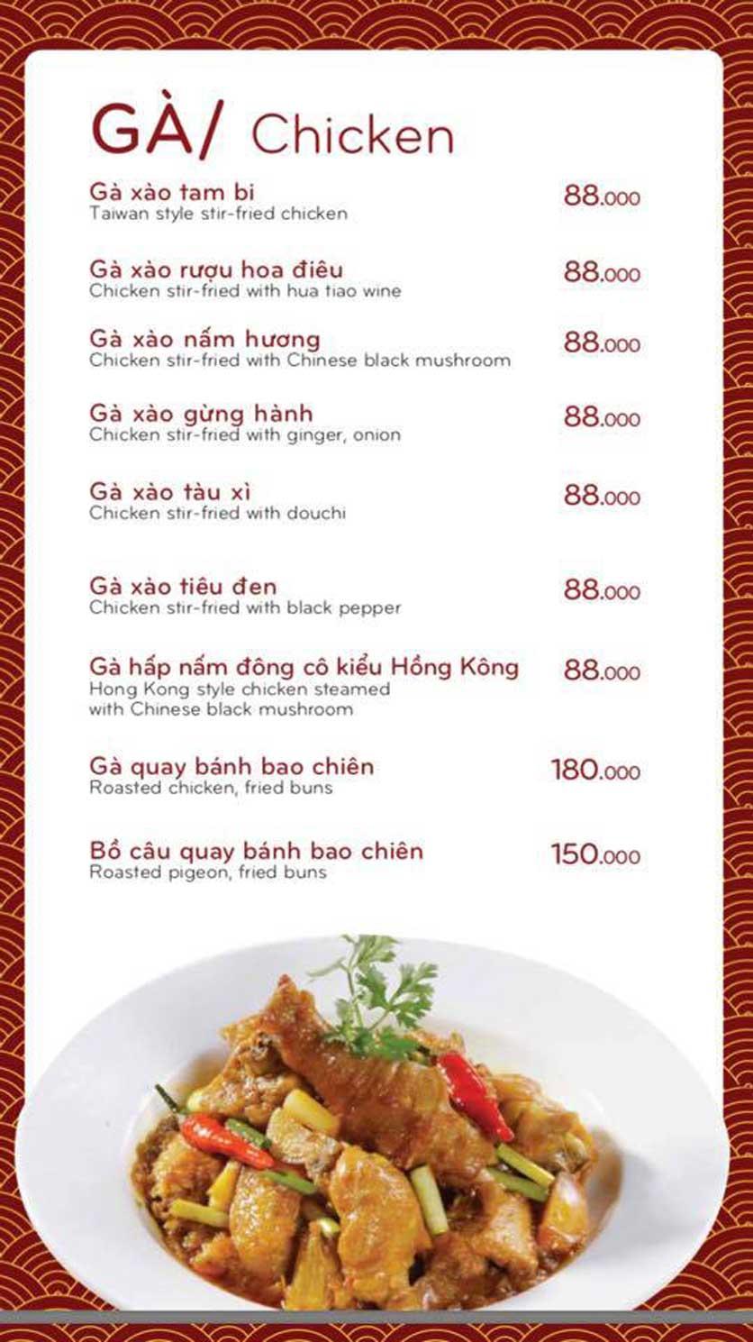 Menu Bách Restaurant – Phan Văn Trị 14