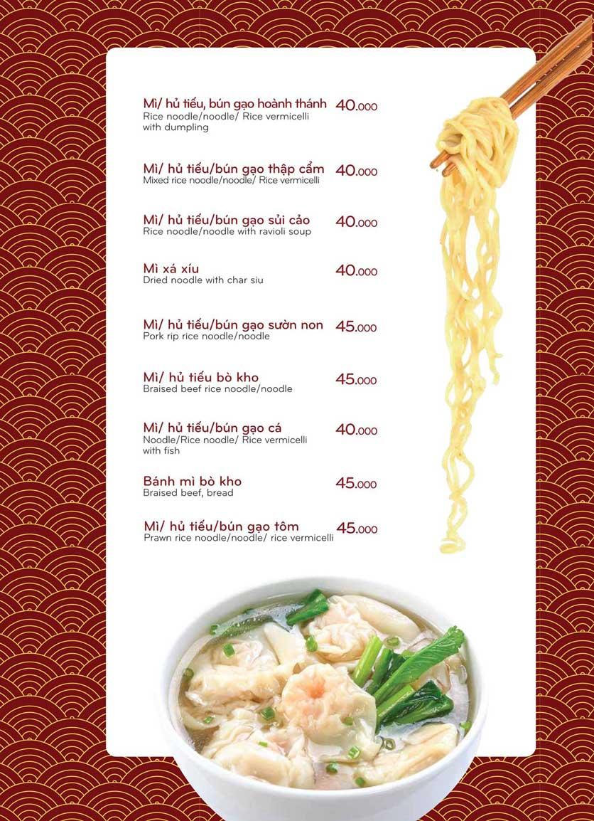 Menu Bách Restaurant – Phan Văn Trị 15