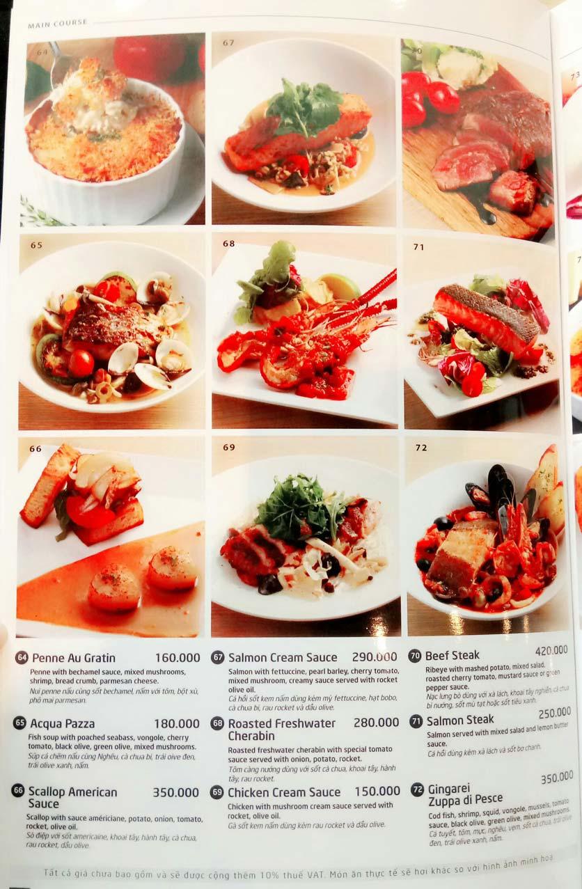 Menu Basta Hiro – Pizza & Pasta – Saigon Centre 2