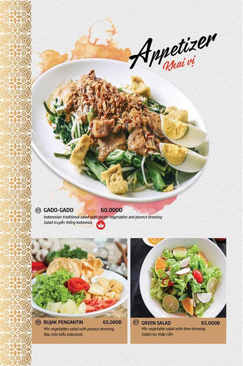 Menu Batavia Restaurant & Cafe - Xuân Diệu 2