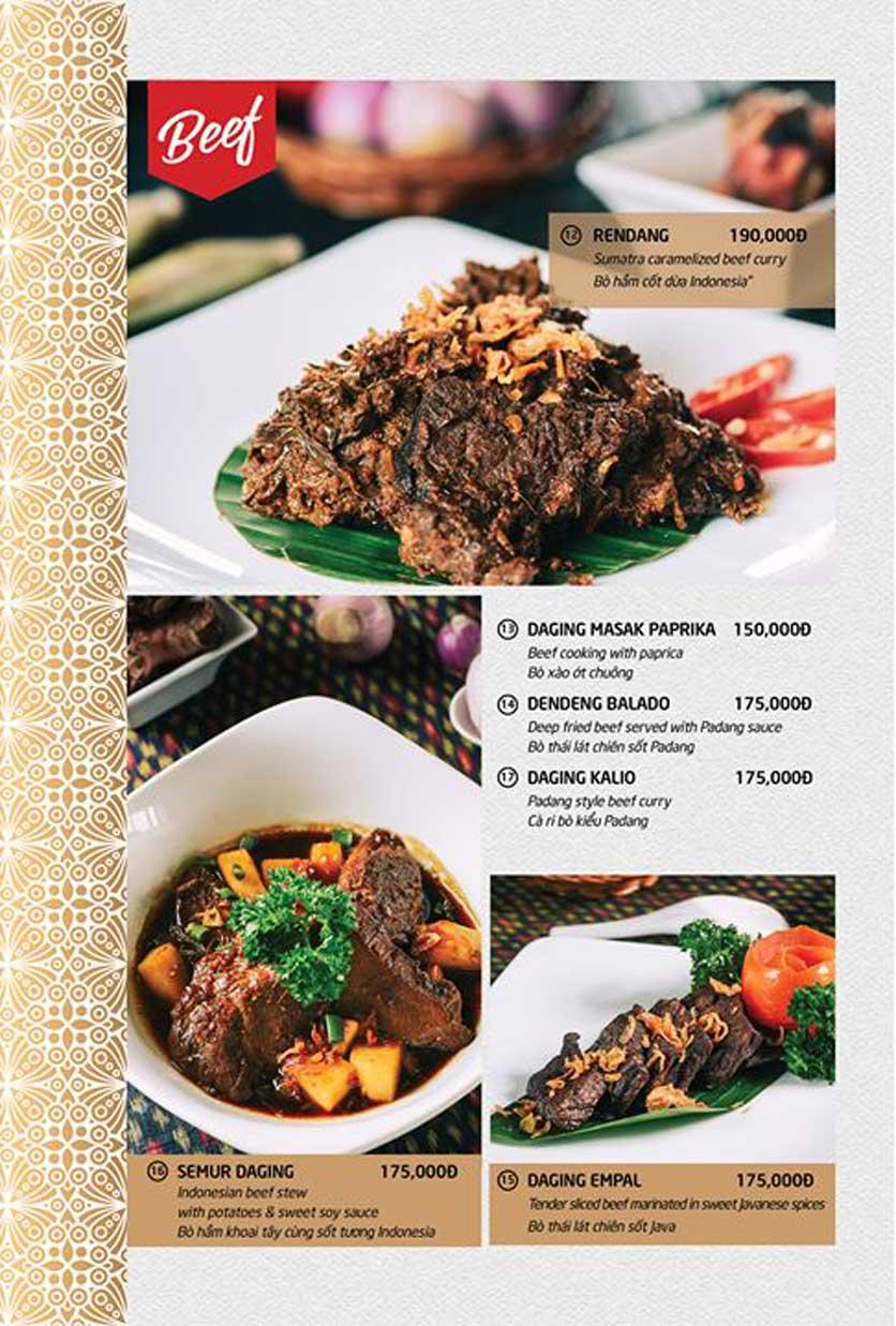 Menu Batavia Restaurant & Cafe - Xuân Diệu 4