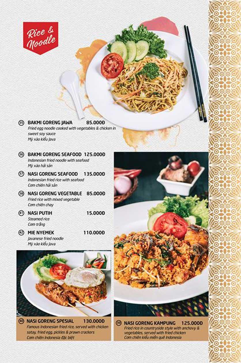 Menu Batavia Restaurant & Cafe - Xuân Diệu 7