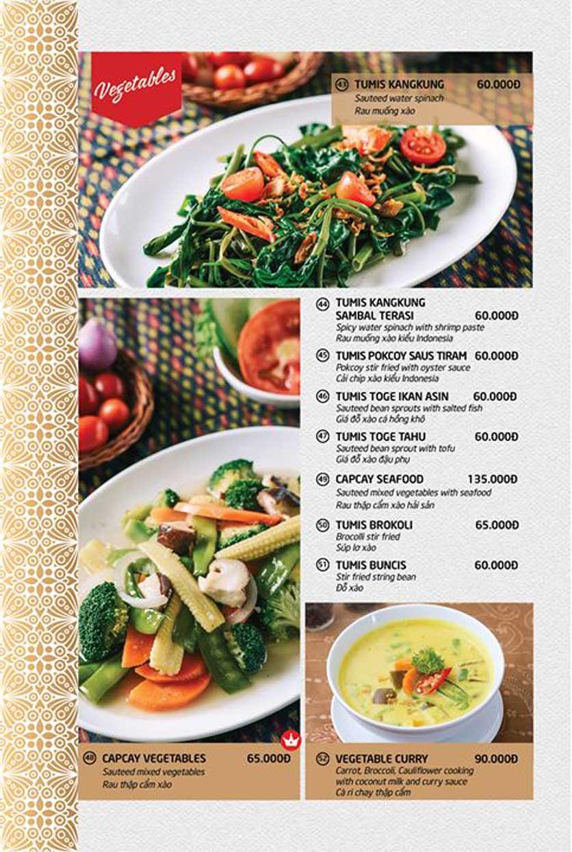 Menu Batavia Restaurant & Cafe - Xuân Diệu 8