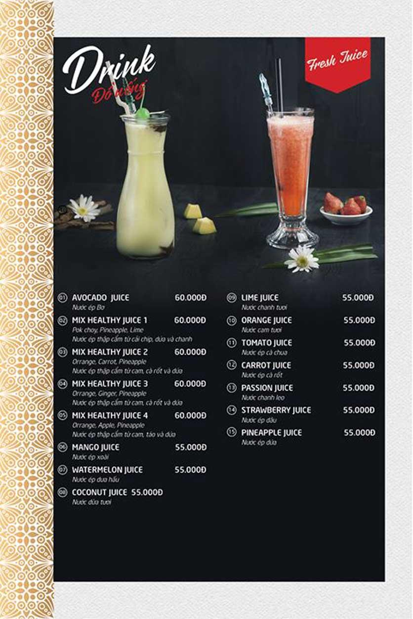 Menu Batavia Restaurant & Cafe - Xuân Diệu 10