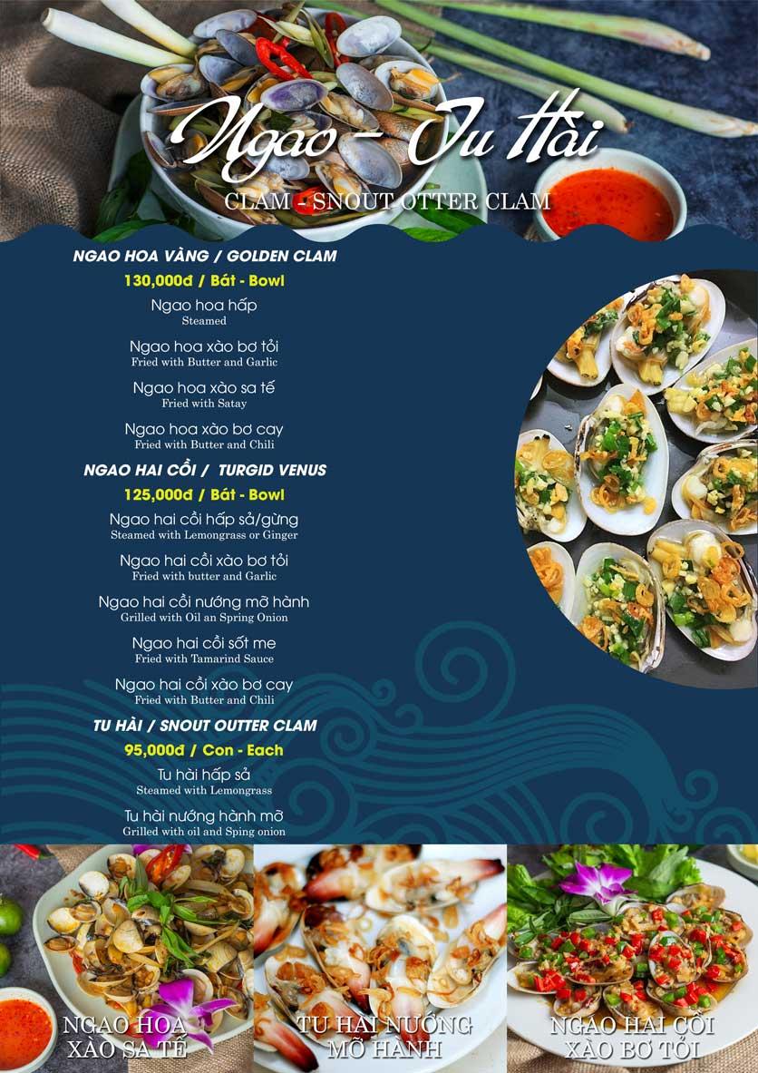 Menu Hải Sản Biển Cua - Nguyễn Khang 5