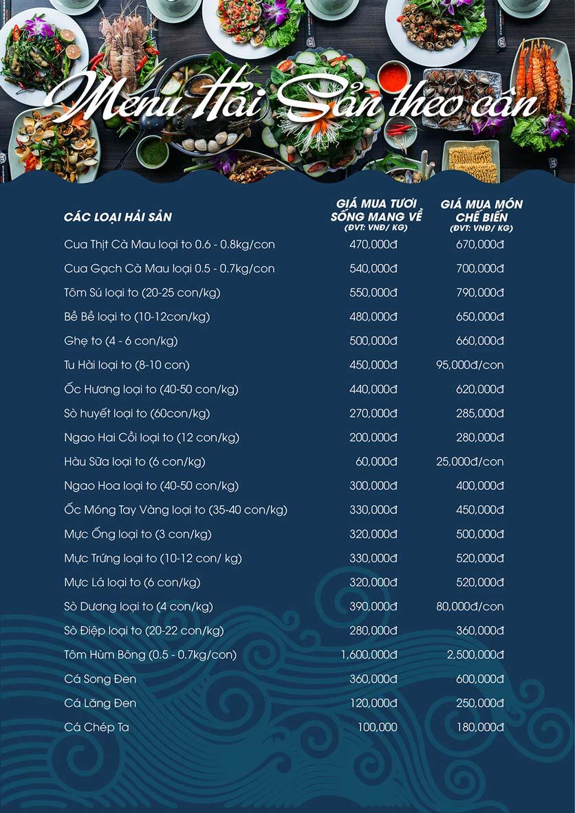 Menu Hải Sản Biển Cua - Nguyễn Khang 4