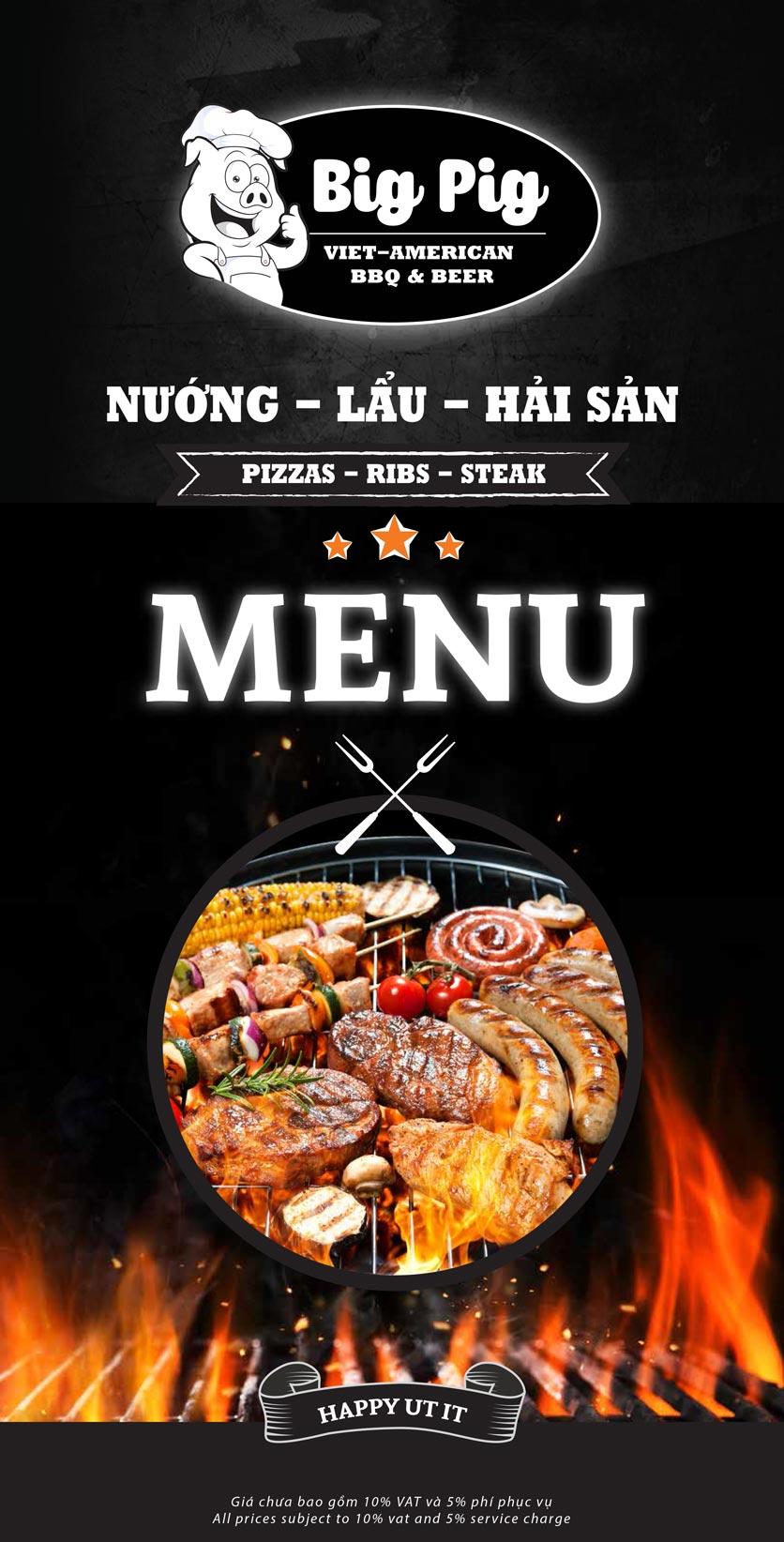 Menu Big Pig BBQ & Beer - Trường Sơn 4