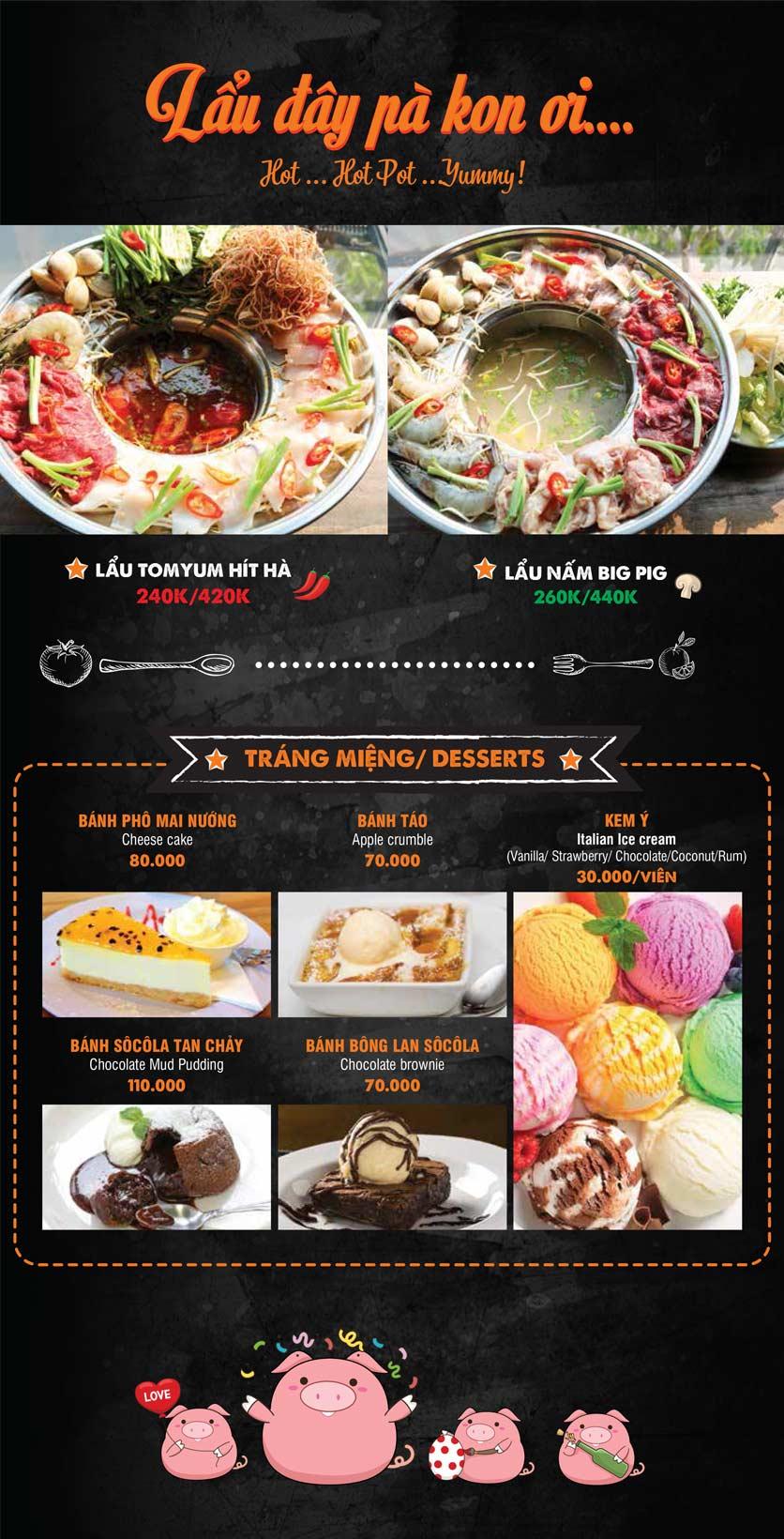Menu Big Pig BBQ & Beer - Trường Sơn 5