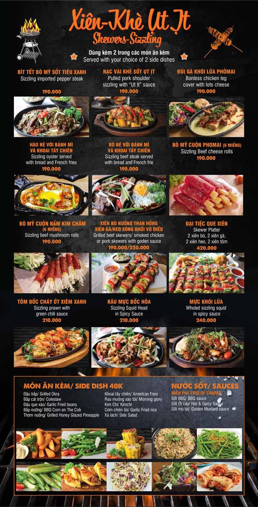 Menu Big Pig BBQ & Beer - Trường Sơn 6