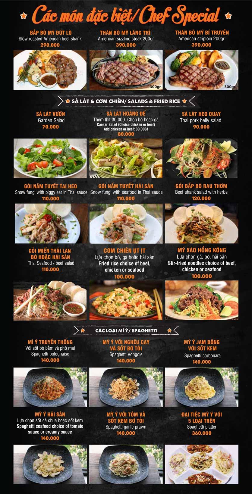 Menu Big Pig BBQ & Beer - Trường Sơn 8