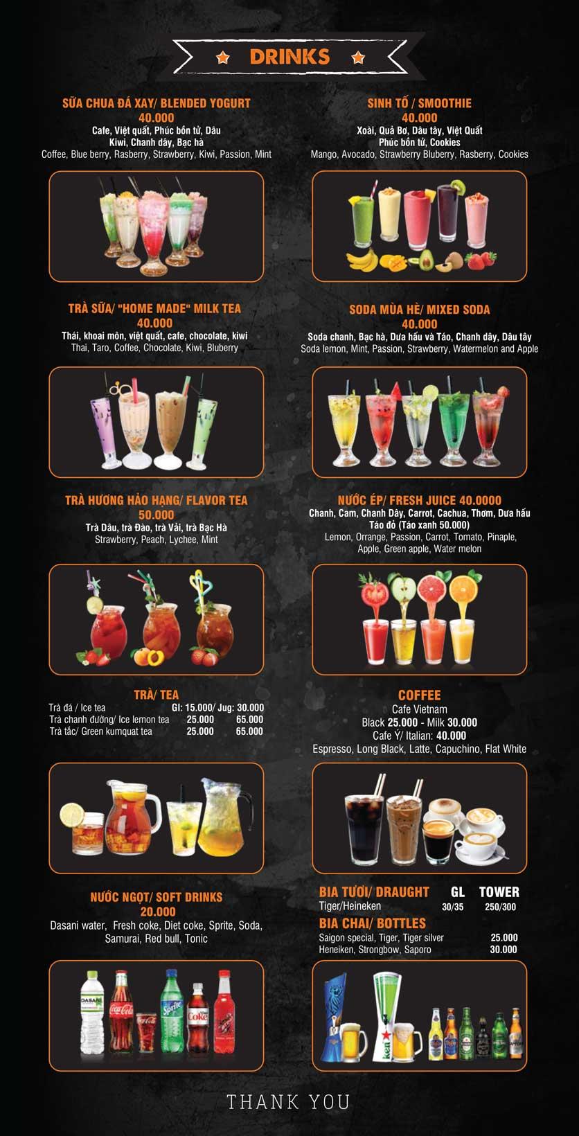 Menu Big Pig BBQ & Beer - Trường Sơn 13