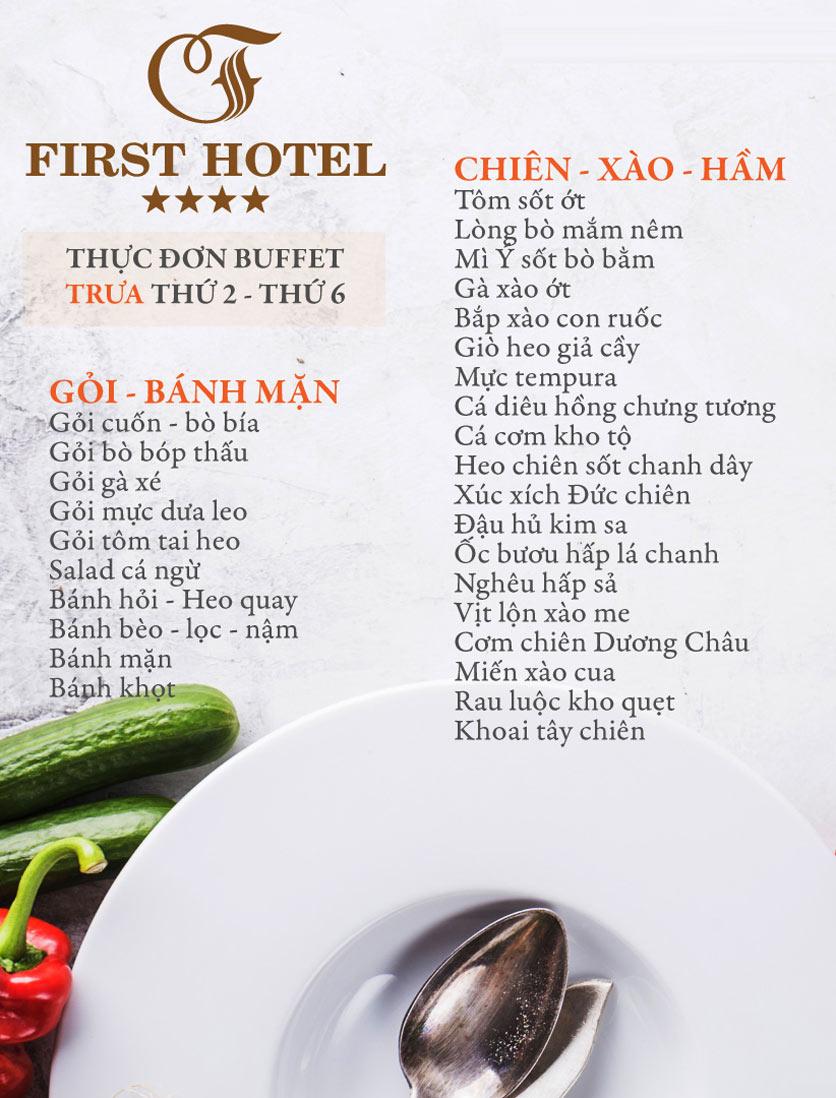 Menu Buffet Đệ Nhất - Hoàng Việt 1